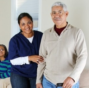 Home-health-aide-and-man
