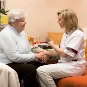 home visit nurse with senior